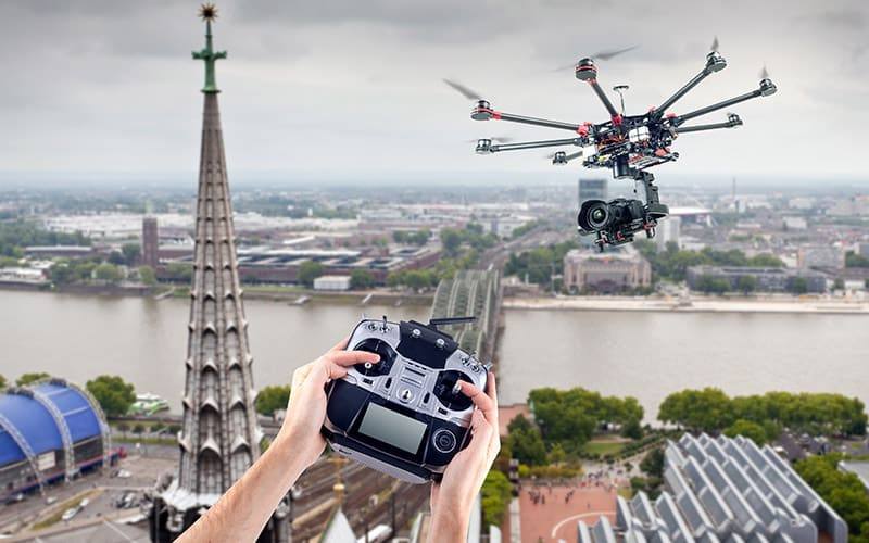 aerial photography in india drone image