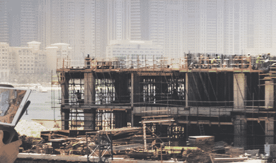 Construction sites drone photography